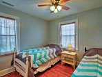 With 2 twin beds, kids will love sharing the third bedroom.