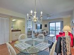 Sit down to a family meal at the 4-person dining table.