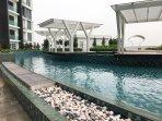 public swimming pool in apartment