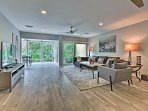 The open concept floor plan allows you to mingle with ease.