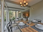 Set the elegant dinning table to enjoy a meal with your companions.