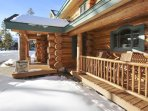 large front covered deck area
