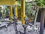Private mini Gym at villa