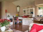 Kitchen with Welsh dresser and gas cooker