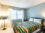 Guest Bedroom, Double Bed, Bath  just outside of Bedrtoom