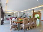 Bright and airy indoor dining area