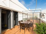 The terrace is ideal to prepare a meal or breakfast outside, sunbathing and relaxing.