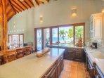 Casa Catalina's ocean-view kitchen