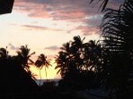 spectacular sunsets from front lanai!