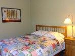 2nd floor guest room-queen bed.
