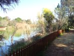 Athalassa Forest Park - Lake and Walking Jogging path.