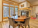 Cozy up next to the gas fireplace during the winter and challenge friends to a game of chess or cards.
