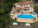 Villa Eusoia Cannes - Aerial View