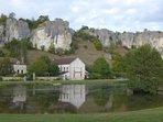 Les roches du Saussois à 4 km de la maison, réputé pour l'escalade