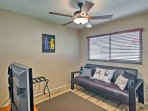 Two can share this fourth bedroom offering a comfortable futon.