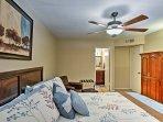 The master bedroom boasts a queen bed and full en-suite bathroom.