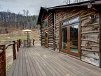 Lots of deck space to to relax and enjoy the mountain air.