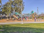 The kids will love being just steps from Joinville Park.