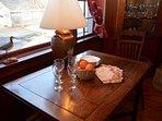 Dining/ breakfast nook in the living room- plenty of light