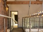 Floating walkway in the vaulted ceiling