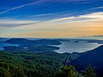 Nearby Mt. Constitution provides incredible views of the neighboring San Juan Islands