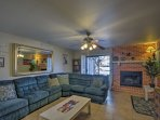 This spacious 1,307-square-foot unit comfortably sleeps 7 and offers all the home essentials.