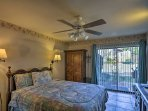 The master bedroom provides a comfortable queen bed.