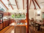 Daintree Secrets Kitchen with views of the rainforest and steam