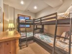 1st Level Bunk Room 2 - Two Twin over Twin Bunk Beds with Full Bath Access