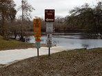 Boat ramp joins property