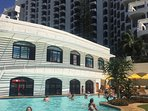 This is the family pool where very busy younger humans have loads of fun,...