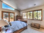 Another view of the master bedroom and private entrance to the deck