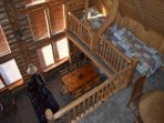 Loft beds - view from top loft