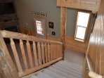 Railing/Stairs leading to the Living Room