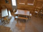 Aerial View of Dining Tables