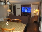Dining Room / Living Room - 65 in HD TV, PS4 & XBox One S Video Game Systems - Over 300 games