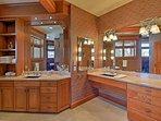 Take advantage of the sauna inside the master bath!