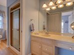 Master suite private bathroom