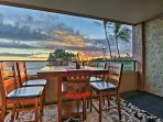 This private lanai offers an optimal outdoor dining experience.