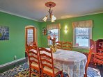 Gather in the dining room or dine al fresco on the furnished patio.