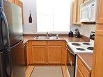 Kitchen area with modern appliances