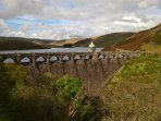 The beautiful Elan Valley with stunning dams and reservoirs is 30 minutes away
