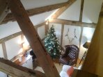 Christmas is a special time to visit.  We decorate the barn in contemporary rustic style