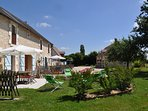Overview of the property with villa Peuplier on right hand side-Luxury Loire Gites-La Richaudiere