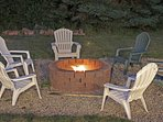 FirePit just off the deck - for Hot Toddies and S'Mores after a wonderful day!