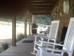 Large covered back porch
