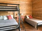Bedroom 2 is identical as bed 3: Double bunkbed, single bed