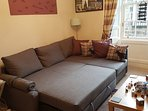 sofa converted into double bed