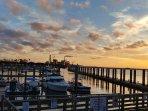Sunset at Fernandina Harbor Marina - end of Centre St