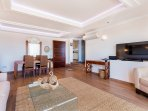 Luxurious and ample living room with great panoramic views, Puerto Banus, Marbella Spain